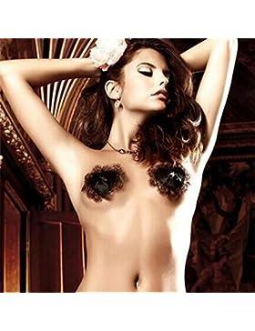 WKWNZ I nuovi adesivi latte capezzolo decorati con a forma di cuore donna cassa del merletto incollare reggiseno...
