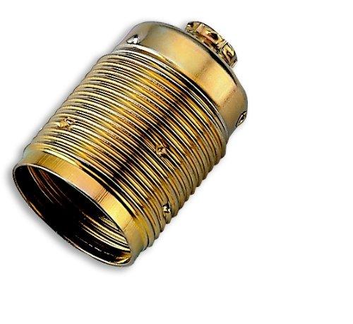 Electraline 71139 Gewinde, Leuchtmittel E27 Sockel ohne Ringe Messing