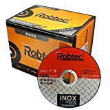 "(PACK of 10) ROBTEC Extra thin 115 x 1.2mm INOX Cutting Disc For Mild Steel & Stainless (4.5"" discs)"