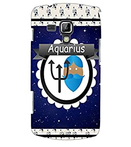 Colourcraft Zodiac Aquarius Back Case Cover For Samsung Galaxy S Duos S7562