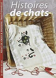 Histoires de chats. Point de croix & broderie traditionnelle.