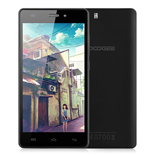"DOOGEE X5 Pro -- 4G Smartphone 5.0"" IPS Android 5.1 Lollipop MT6735 Quad Core 1.0GHz Cellulare Dual SIM 2GB RAM 16GB ROM DG Xender intelligente Wake Air Gesti GPS WIFI (Nero)"