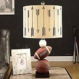 SKC LIGHTING Kinder-Tischlampe Moderne Kreativität Einfache Basketball Tischlampe Schlafzimmer-Augen-Learning Personality Boy amerikanische Nachttischlampe ( Farbe : #1 )