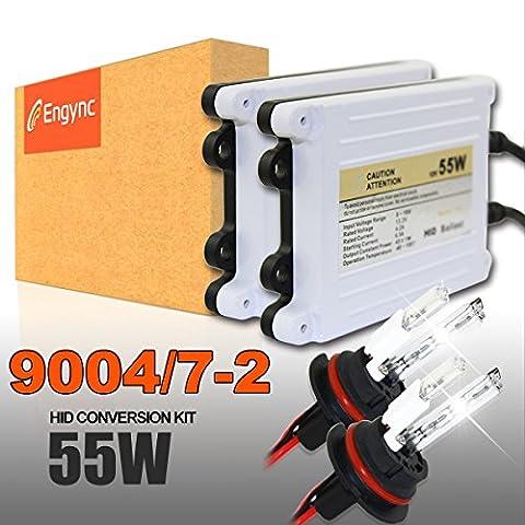 Engync 55W 9007 (HB5) Lo / Hi Kit Xenon alogena HID conversione con Premium reattori e 3 anni di garanzia | Hi / Low di colore azzurro (10000K)