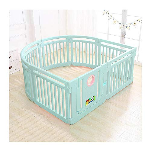 Bettgitter HUO Kinder Indoor Spiel Zaun Baby Sicherheit Kleinkind Krabbeln Zaun-4 Runde +3 Gerade +1 Tür -158 * 150CM (Farbe : B)