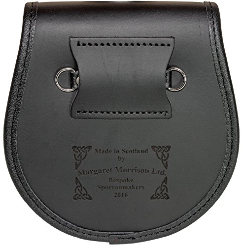 span classb prefix span Melville Semi Dress Sporran Fur Plain Leather Flap Scottish Clan Crest