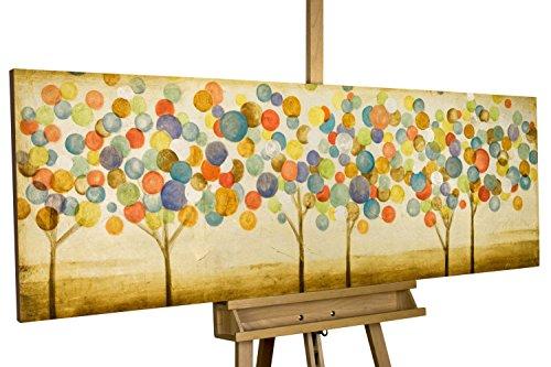 Alberi colorati astratti nel bosco su fdipinto in acrilico kunstloft
