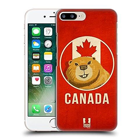 Head Case Designs Canada Animaux Patriotiques Étui Coque D'Arrière Rigide Pour Apple iPhone 7 Plus