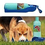 Gardigo Hunde-Trinkflasche für unterwegs, Trinknapf für Spaziergänge und Reise