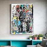 REDWPQ Segui i Tuoi Sogni Street Wall Graffiti Art Canvas Dipinti Astratto Einstein Pop Art Stampe su Tela per la Camera dei Bambini Cuadros Decor 40X60Cm Senza Cornice