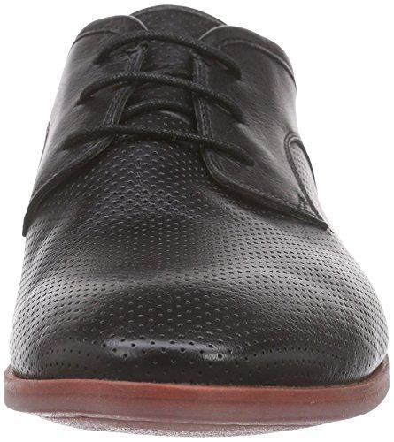 Clarks - Frewick Walk, Scarpe stringate Uomo Nero (Black Leather)