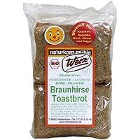 Werz Braunhirse-Toastbrot glutenfrei, 2er Pack (2 x 250 g Packung) - Bio