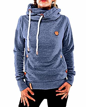 ZANZEA Winter Damen Hoodies Pullover Langarm Jacke Top Sweatshirt Pullover Tops Jumper