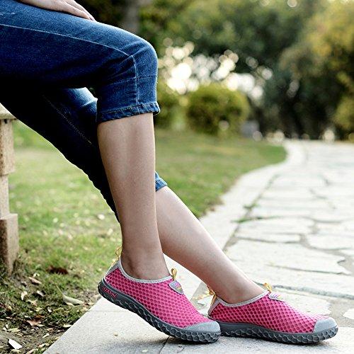 Santiro Le Glissement De l'femmes Hommes Sur Sneaker Unisexe Mesh Chaussures Haute-eau. Rose