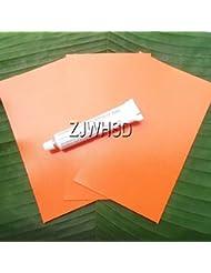 3Pcs Orange 12x 20cm en PVC Patch + Colle pour gonflable et bateau gonflable Kayak canoë Eau jouet réparation Abbott
