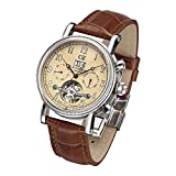 Carl von Zeyten Herren Analog Automatik Uhr mit Leder Armband CVZ0028CR