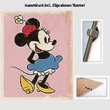Kunstdruck Poster - Mini Maus Minnie Mouse Retro Walt