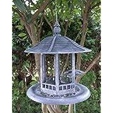 Mangeoire à oiseaux Aspect pierre Figurine Mangeoire à oiseaux mangeoire Jardin