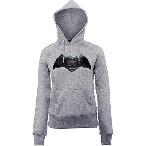 DC Comics Donna Batman v Superman Logo Felpa con cappuccio XXX-Large Sport Grigio