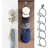 über die Tür Hut Racks für Baseball Caps, Huthalter vertikal Halter Hut Display Rack Metall Schal Kleiderbügel Veranstalter Halter hinter Tür Schrank Home Organisation - weiß