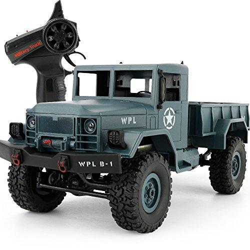YIKESHU Fernbedienung Off-Road-Fahrzeuge Vier – Rad Klettern Truck High Speed Buggy Metall Shell mit LED-Licht (blau) (Rc Crawler Trucks)