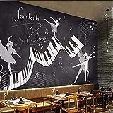 Fushoulu Papel Tapiz Fotográfico Personalizado Retro Vintage Ballet Disfraz 3D Mural Sala De Estar Sofá Tv Fondo De Pared Papel De Pared Fresco 3D A Prueba De Agua-250X175Cm