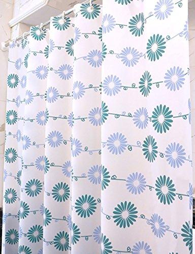 Duschvorhang PEVA Wasserdicht Mehltau opak Einfache Duschvorhänge schneiden Sie das Hotel Continental Badezimmer-vorhang Multi-standard Duschvorhang Anti-statische Duschvorhang (Größe: 300*200 CM)