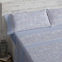 Burrito Blanco Juego de sábanas 462 Azul de cama de 180x190/200 cm