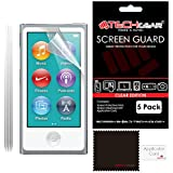 [Pack of 5] TECHGEAR® CLEAR LCD Screen Protector Guards With Cleaning Cloth for Apple iPod Nano 7 & Nano 8 [7th & 8th Generations]