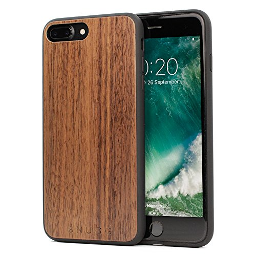 Snugg iPhone 7 Plus and 8 Plus Hülle, Apple iPhone 7 Plus and 8 Plus Case Schutzhülle Silikon Tasche [Echtholz] Ultra-Slim TPU Cover - Rosenholz