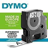 Dymo D1 Etichette Autoadesive per Stampanti LabelManager, Rotolo da 19 mm x 7 m, Stampa Nero su Bianco