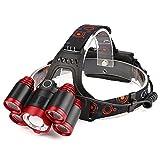 DOGZI Led Taschenlampe Verstellbar, Baumarkt Eisenwaren - Zoomable 5x XM-L T6 LED Wiederaufladbare 18650 Scheinwerfer Scheinwerfer Zoomable Torch