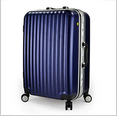 Xiuxiandianju Particolarmente scelta libertà Lightweight rigida filatura Rolling bagagli Set20inch, 24 pollici, 28inchDifferent SuitcaseColour & dimensione Blue