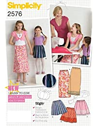 Simplicity K5 7-8-10-12-14 Sewing Pattern 2576 Child/ Girl Skirt