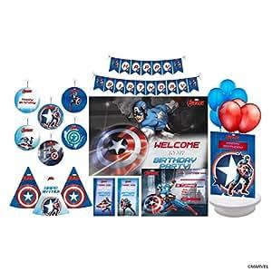 Pretty Ur Party Disney Captain America Paper 6 Danglers 10 Hats 10