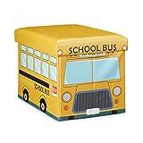 Relaxdays-Coffre--jouets-similicuir-bote--jouets-couvercle-tabouret-pouf-enfant-pliable-H-x-l-x-P-32-x-48-x-32-cm-capacit-37-L-bus-cole