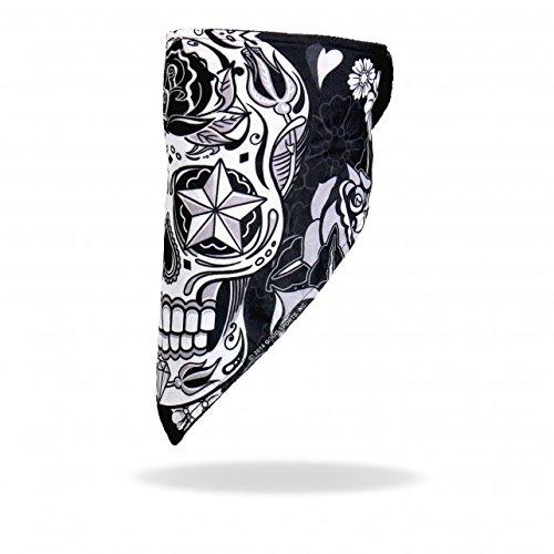 Bandana • Windbreaker • Klettverschluss (Sugar Skull) Sugar Skull • Tag der Toten • Dia de los MuertosWindschutz ()