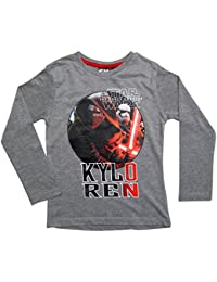Star Wars Kollektion 2016 Langarmshirt 104 110 116 122 128 134 140 146 Shirt Neu Jungen Pullover Kylo Ren Grau