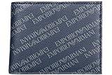 Emporio Armani Herren Geldbörse Portemonnaie Bifold Geldbeutel blu