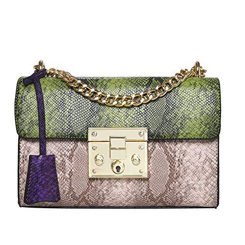TianWlio Handtasche Damen Mädchen Mode Schlangenleder Muster Tasche Crossbody Umhängetasche Grün