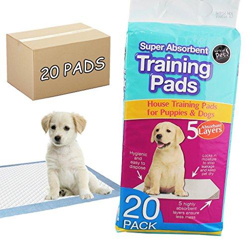 20-PREMIER-SUPER-ABSORBENT-PUPPY-PADS-CAR-HOUSE-PET-DOG-DOGGIE-TRAINING-WET-WEE-MAT