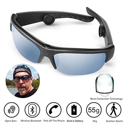AcTek Knochenleitung Kopfhörer Drahtlose Bluetooth Lauf Hands-Free-Kopfhörer mit NFC Stereo Kopfhörer Sport Headset für iPhone und Android