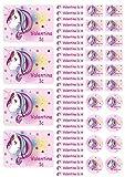 Mein Zwergenland Namensaufkleber Heftaufkleber Etiketten Sticker Stickerbogen Unicorn Einhorn Beauty
