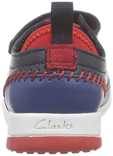 Clarks Kids - Tri Scotty Inf, Scarpe da ginnastica Bambino Blu (Navy Combi Lea)