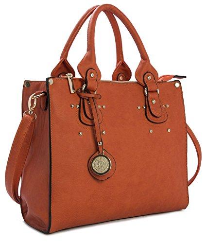 Big Handbag Shop, Borsa a mano donna One Orange (ST473)