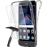 Coque Gel Huawei P8 Lite 2017 , Buyus Coque 360 Degres Protection INTEGRAL avec VERRE TREMPE Ecran , Etui Ultra Mince Transparent INVISIBLE pour P8 Lite 2017 , Coque P8 Lite 2017