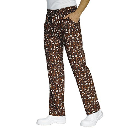 Isacco - Pantalon Cuisinier marron chocolate Marron