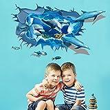 Adesivi da parete 3D Delfini Farfalle Carte Decalcomanie da parete smontabile Vinile Soggiorno Camera da letto Camera da letto in PVC Immagini murali per bambini Nursery Baby Girls Boys