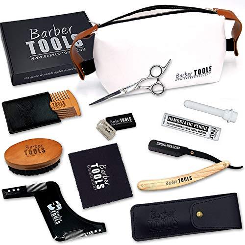 BARBER TOOLS  Kit/Set/Cofanetto per la cura e manutenzione della barba e radersi