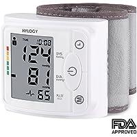 Hylogy Misuratore di Pressione da Polso, Sfigmomanometro da Polso della Pressione Sanguigna e Pulsazione, Grande Schermo LCD, 240 Posizioni di Memoria